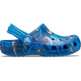 Crocs Classic Shark Prescool Clogs Kids prep blue